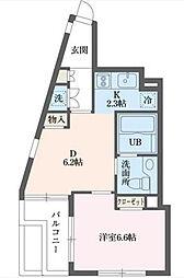 東京都世田谷区北沢1丁目の賃貸マンションの間取り