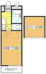 クレセントハイツ富士見[2階]の間取り