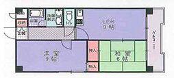 ハイツニチカン2[4階]の間取り