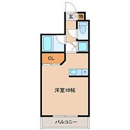 宮城県仙台市青葉区高松2丁目の賃貸マンションの間取り