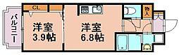 ソーレ・コモンド[2階]の間取り