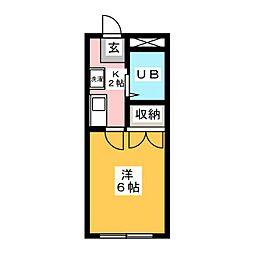ブデン旭ヶ丘[1階]の間取り
