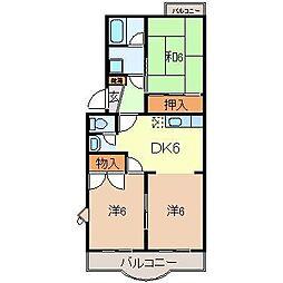 静岡県駿東郡清水町伏見の賃貸マンションの間取り