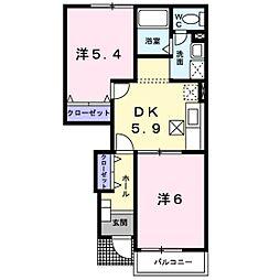 ローレルNSⅢ[1階]の間取り