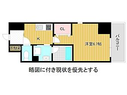 名古屋市営名城線 大曽根駅 徒歩3分の賃貸マンション 5階1Kの間取り