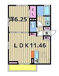 オッツ西亀有3丁目[2階]の間取り