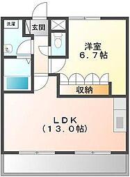 埼玉県日高市高萩の賃貸マンションの間取り