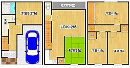 [一戸建] 大阪府大阪市生野区田島3丁目 の賃貸【/】の間取り