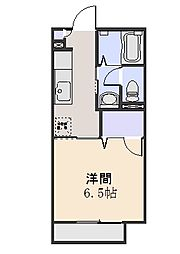 サンモールB[1階]の間取り