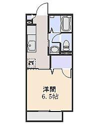 サンモールA[2階]の間取り