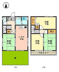 [一戸建] 愛知県名古屋市名東区新宿1丁目 の賃貸【/】の間取り