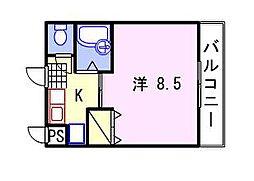 ルンゴフィューメ[1階]の間取り