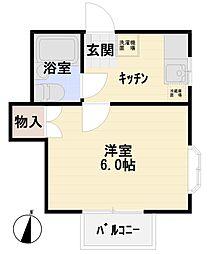 グレイス渡田[101号室]の間取り