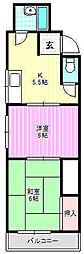 SKマンションII[1階]の間取り