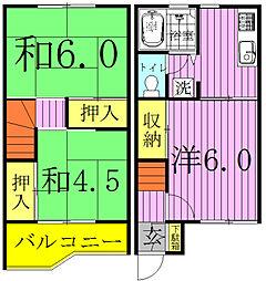[テラスハウス] 千葉県流山市西初石4丁目 の賃貸【/】の間取り