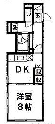 ルパルク松ヶ枝[3階]の間取り