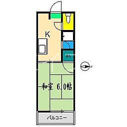 エスティハウス[3階]の間取り