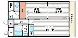 ユニ高麗橋[9階]の間取り