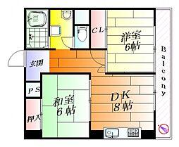 ルネ千里丘3号棟[5階]の間取り