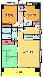 レクセルマンション北綾瀬[305号室]の間取り