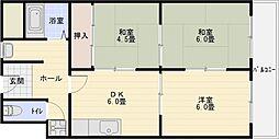 コーポ西村[1階]の間取り
