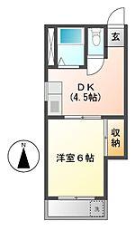 ハイツ吉野[1階]の間取り