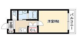 愛知県名古屋市昭和区広路町字石坂 の賃貸マンションの間取り