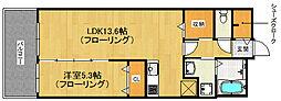 福岡県福岡市中央区草香江2丁目の賃貸マンションの間取り