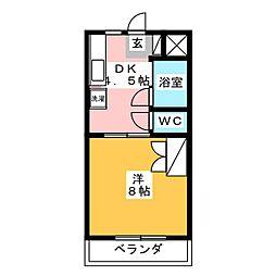 ラ・ヴィクレール[3階]の間取り