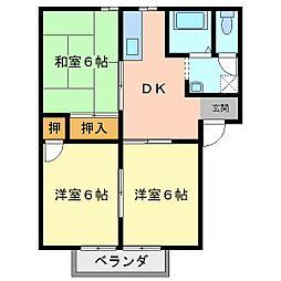 リバータウン21[2階]の間取り