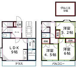 [一戸建] 東京都小平市上水本町4丁目 の賃貸【/】の間取り