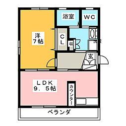 福室ビル[3階]の間取り