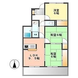マンションFTY[2階]の間取り