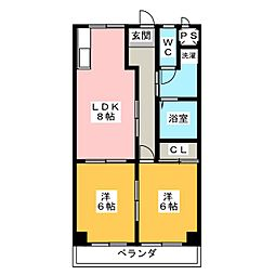 エクセレント トミナガ[2階]の間取り