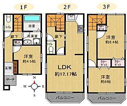 全室二面採光の3LDKです