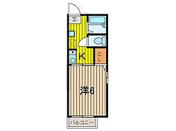 仲西コーポ[2階]の間取り