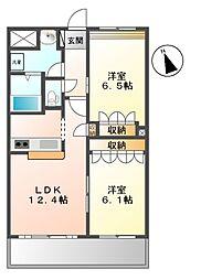 Miura Mansion[5階]の間取り