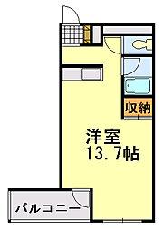 フィールドハウス末広弐番館[313号室]の間取り