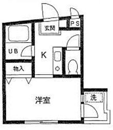 東京都板橋区蓮沼町の賃貸マンションの間取り