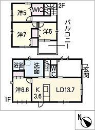 [一戸建] 三重県鈴鹿市白子駅前 の賃貸【/】の間取り