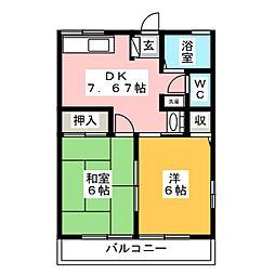 カモミール[1階]の間取り