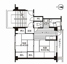 ビレッジハウス十王堂2号棟[305号室]の間取り