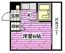 広島県安芸郡海田町昭和中町の賃貸マンションの間取り