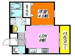 クリエオーレ・三ノ瀬II 301号室[3階]の間取り
