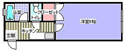 信開セルーラ菊川[107号室]の間取り