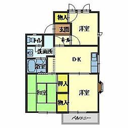 ハイツウッドルII[2階]の間取り