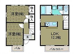 [テラスハウス] 神奈川県相模原市南区西大沼2丁目 の賃貸【/】の間取り