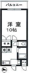 千葉県松戸市古ケ崎2の賃貸マンションの間取り