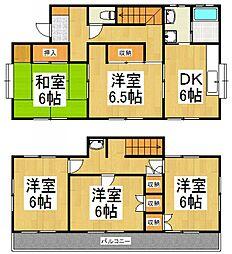 [一戸建] 埼玉県所沢市大字上安松 の賃貸【/】の間取り