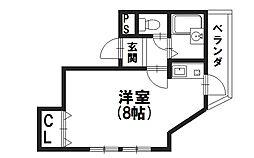 北野マンション[3F号室]の間取り